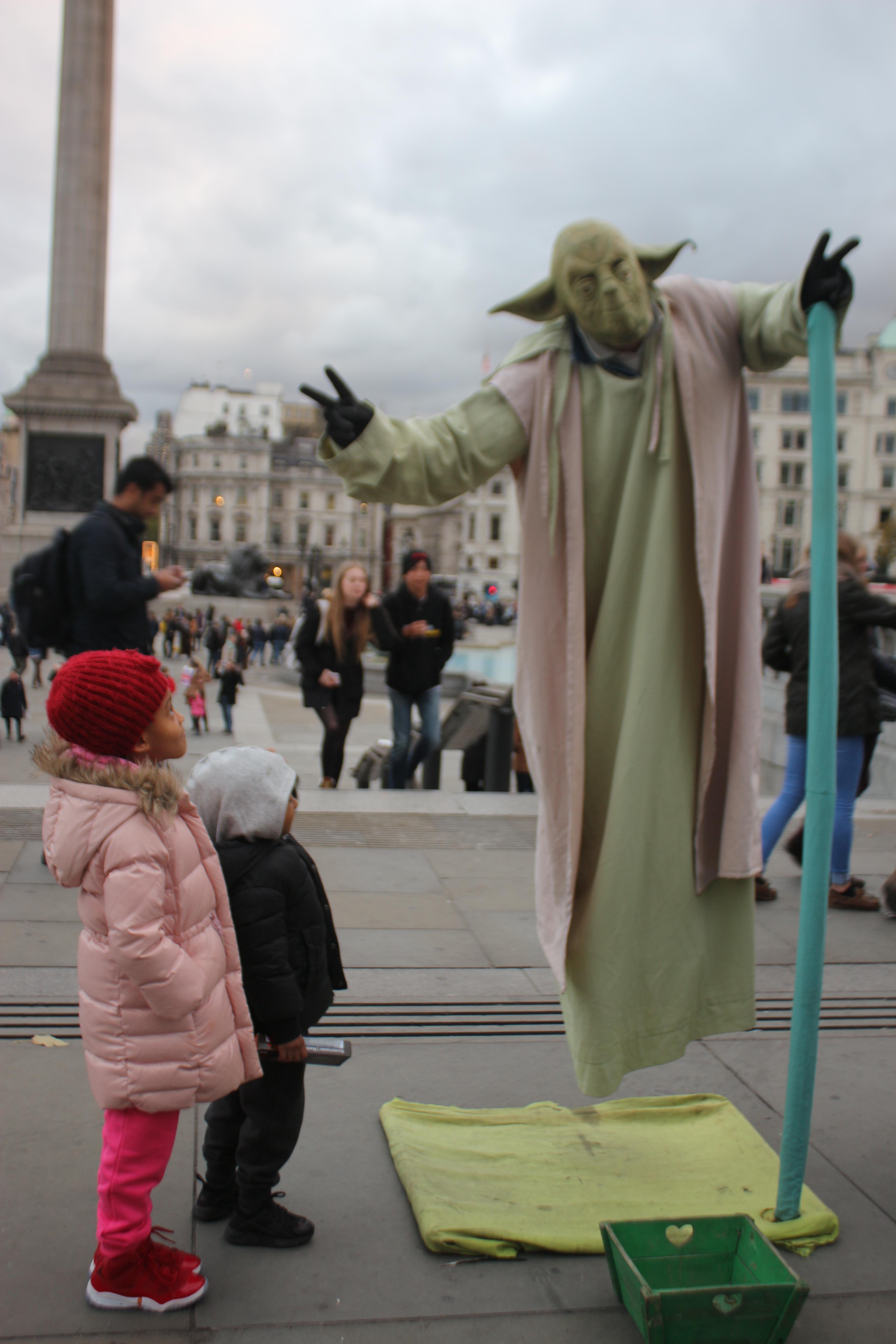 Kids in Trafalgar Square